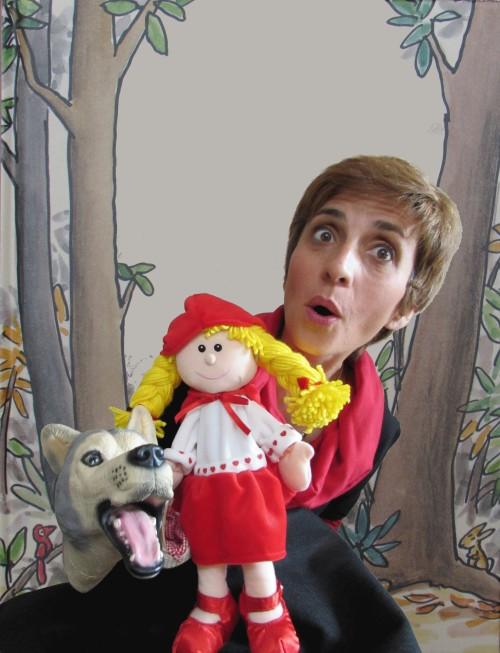 Edith grosse avec l'atelier spectacle le petit chaperon rouge